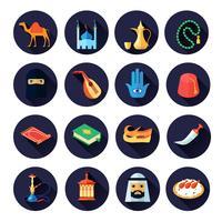 Arabisk kultur ikon platt