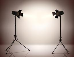 Standing Spotlights Background vector