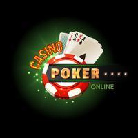 Cartaz online de pôquer de cassino vetor
