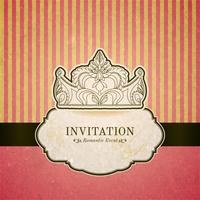 Princess invitation card with crown
