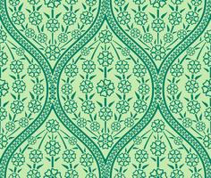 Seamless Oriental floral pattern