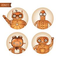 Steampunk-Roboter-Iconset