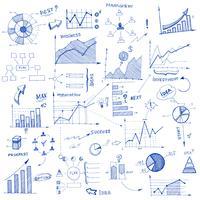 Doodle elementi di design infografico