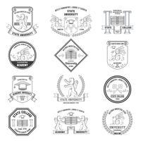 Conjunto de rótulos universitários