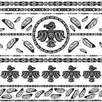 Indian tribal pattern background vector