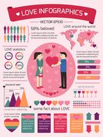 Liebe Infografiken Elemente