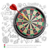 Creative Background With Dartboard vector