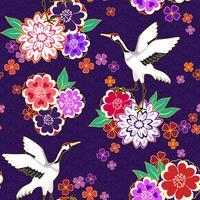 Patrón decorativo kimono vector