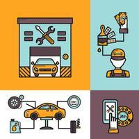 Auto Service-Konzept