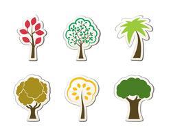 Símbolos de árvore para web design verde