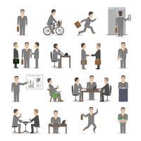 Conjunto de pessoas de escritório