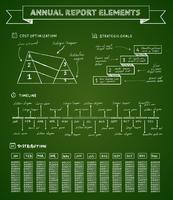 Elementos de infográficos de quadro de giz