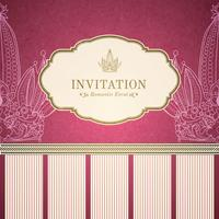 Retro princess invitation template