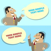 Businessman speech bubble with place for message
