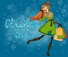 Christmas discounts vector