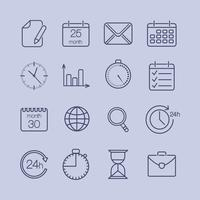 business time icons vector