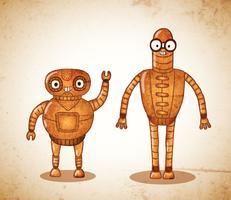Vintage schattige cyborgs
