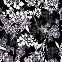 Seamless pattern with blossoming cherry or sakura