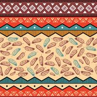 Ethnic tribal pattern background vector