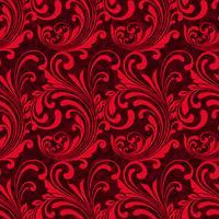 Patrón sin costuras ornamental rojo brillante