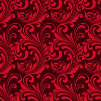 Bright red ornamental seamless pattern