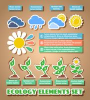 Green eco infographic elements vector
