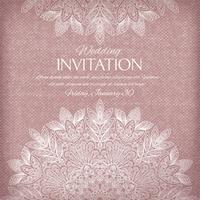 Ornamental invitation silver and pastel colors vector