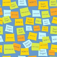 Seamless business sticky notes vector