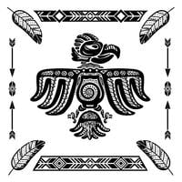 Tribal indian eagle tattoo vector