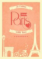 Amo o poster retro vintage de Paris