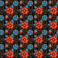 seamless colorful summer floral pattern