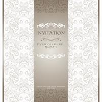 Carte d'invitation d'ornement beige clair