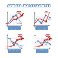 Business graph element för infographics