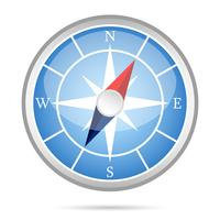 Modern compass icon