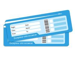 Billetes de avión en blanco