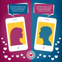 Couple virtual love talking using mobile phone