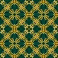 Seamless pattern giallo e verde in stile arabo o musulmano