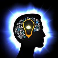 idea en la cabeza vector