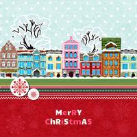 Merry christmas uitnodigingskaart
