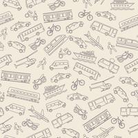 Transportation seamless background