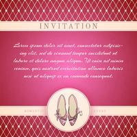 Cinderella princess invitation template