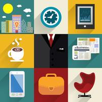 Business set of generic icons