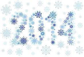 Estrelas de neve de 2014 vetor