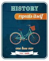 Hipster fiets promo poster