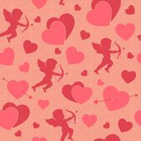 Dia dos Namorados sem costura padrão romântico