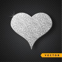 Vectorzilver fonkelt hart