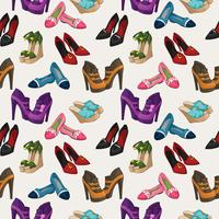 Seamless woman's fashion shoes pattern vector