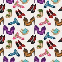Naadloze vrouw mode schoenen patroon