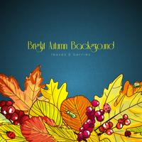 bright autumn background