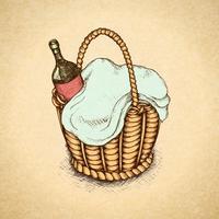 Weinlese-Picknickkorb